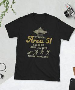1ST Annual - Area 51 5k Fun Run - SEPT. 20, 2019 Tshirts