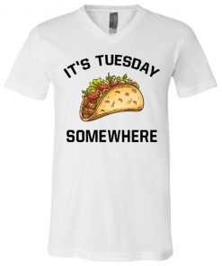 LeBron James It's Tuesday Taco Somewhere V-Neck T-Shirt