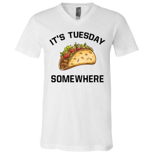 LeBron James It's Tuesday Taco Somewhere V-Neck T-Shirt