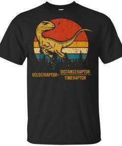 Velociraptor Distanceraptor Timeraptor Dinosaur Youth Kids T-Shirt