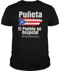 #rickyrenuncia Puerto Rico Politics Hashtag Ricky Renuncia T-Shirt