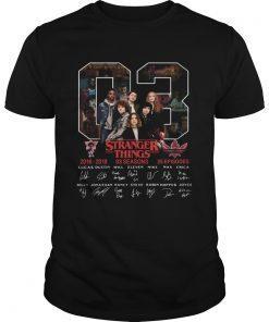 03 Stranger Things 2016 2019 03 seasons 25 episodes signature shirt