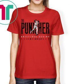 Aristides Aquino Shirt The Punisher, Cincinnati, MLBPA Shirt