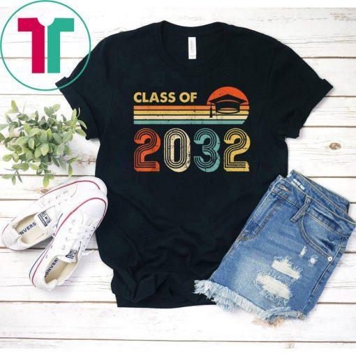 Class Of 2032 Grow With Me Pre-K Graduate Vintage Retro T-Shirt