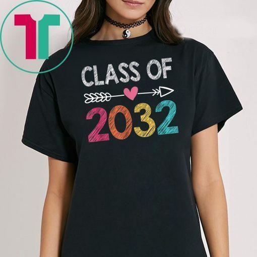 Class Of 2032 Shirt Pre-K Graduate Preschool Graduation T-Shirt