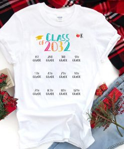 Class of 2032 Grow With Me Shirt With Space For Checkmarks T-Shirts