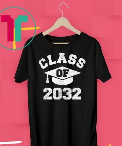 Vintage Kindergarten 2019 Class Of 2032 Apparel Grow With Me T-Shirt