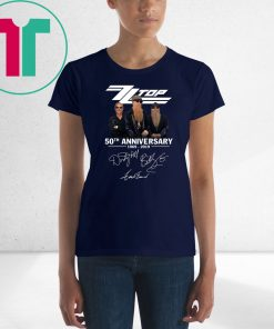 ZZ top 50th anniversary 1969 2019 signatures shirtZZ top 50th anniversary 1969 2019 signatures shirt