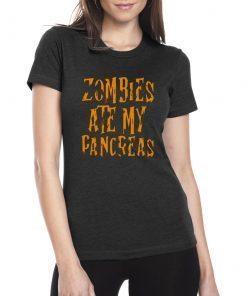 Zombies Ate My Pancreas Halloween Tee Shirt