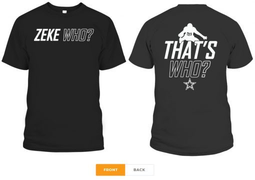 Zeke Who Dallas Cowboys 2019 T-Shirt