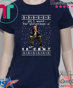50 Cent Rapper Ugly Christmas T-Shirt
