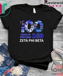 100 Years Of 1920 2020 Zeta Phi Beta Gift T-Shirts